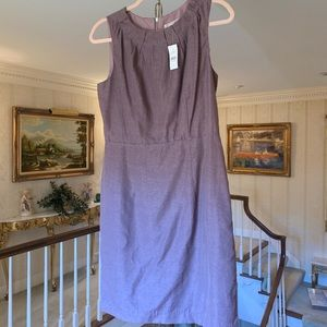 Ann Taylor Loft Sheath Dress Lt Purple Raw Silk